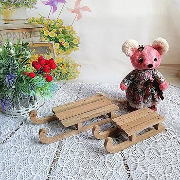 Куклы и игрушки ручной работы. Ярмарка Мастеров - ручная работа Санки деревянные для кукол и игрушек. Handmade.