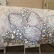 Картины и панно handmade. Livemaster - original item Big picture of Hydrangea 150/90cm. Handmade.