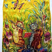 Аксессуары handmade. Livemaster - original item Silk scarf batik