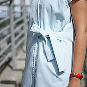 Одежда ручной работы. Ярмарка Мастеров - ручная работа Жилет бархатный голубой. Handmade.