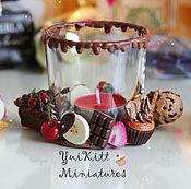 """Для дома и интерьера ручной работы. Ярмарка Мастеров - ручная работа Подсвечник """"Chocolate"""". Handmade."""