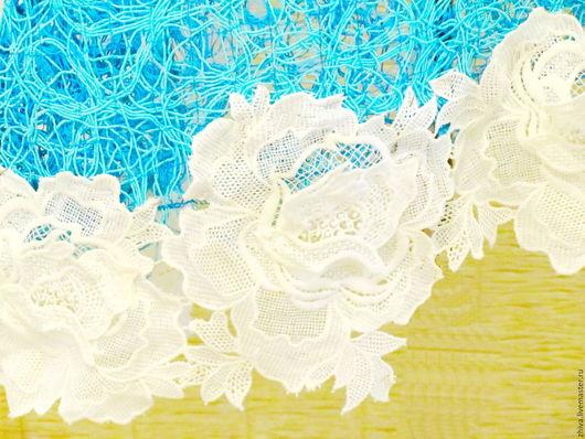Платья ручной работы. Ярмарка Мастеров - ручная работа. Купить Платье с хлопком ТАТЬЯНА. Handmade. Бирюзовый, итальянское кружево