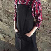 Для дома и интерьера ручной работы. Ярмарка Мастеров - ручная работа Черный фартук для бариста, для художника, для бармена FK-011. Handmade.