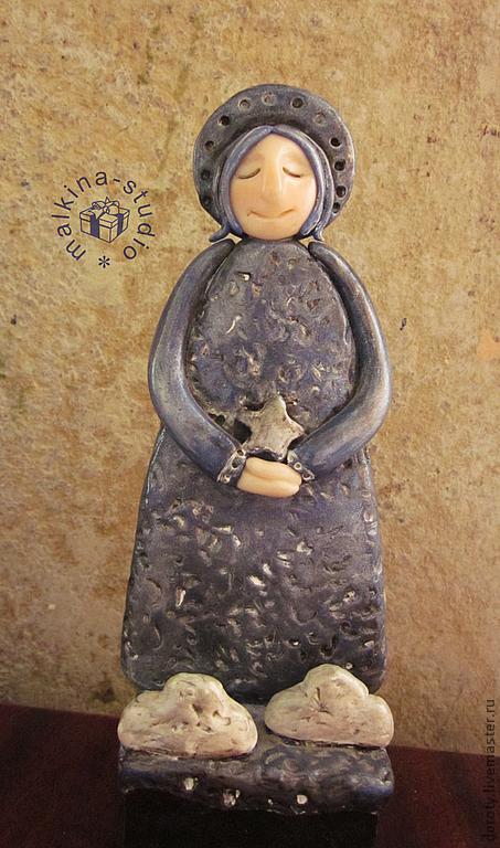 """Статуэтки ручной работы. Ярмарка Мастеров - ручная работа. Купить ангел """"желание"""". Handmade. Тёмно-синий, ангел, ангелочек, желание"""