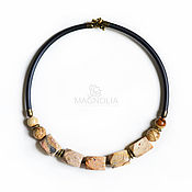 Украшения handmade. Livemaster - original item Necklace with jasper