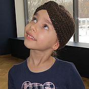 Аксессуары handmade. Livemaster - original item Bandage chocolate FOR girls German yarn. Handmade.