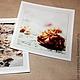 Фото `Poete Maudit` 15х15 см на металлической бумаге с двухцветным двойным обрамлением на бумаге крафт.