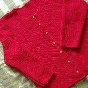 Одежда ручной работы. Ярмарка Мастеров - ручная работа Жакет-   кофта вязаная. Handmade.