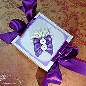 """Свадебный салон ручной работы. Ярмарка Мастеров - ручная работа Бонбоньерка """"Цветы"""". Handmade."""