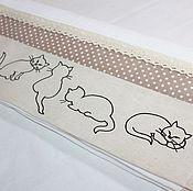 """Для дома и интерьера ручной работы. Ярмарка Мастеров - ручная работа Кухонное полотенце """"Кошки и горошки"""". Handmade."""
