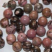 Материалы для творчества handmade. Livemaster - original item Rhodonite, 10 mm smooth beads (natural stone. Handmade.