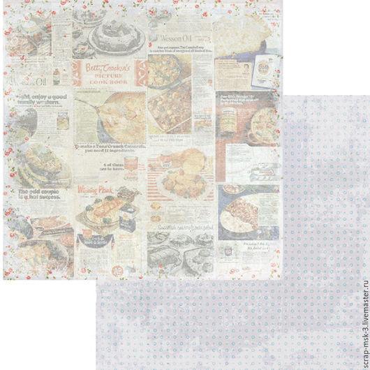 Открытки и скрапбукинг ручной работы. Ярмарка Мастеров - ручная работа. Купить Бумага для скрапбукинга по листу Рецепты 2907 Fleur Design. Handmade.