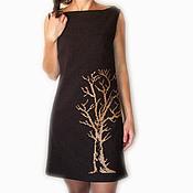 """Одежда ручной работы. Ярмарка Мастеров - ручная работа Платье """"Ноябрь"""" - ручная вышивка. Handmade."""