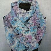 """Аксессуары ручной работы. Ярмарка Мастеров - ручная работа валяный шарф """"Дыхание весны"""" есть в наличии. Handmade."""