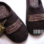 """Обувь ручной работы. Ярмарка Мастеров - ручная работа Мужские тапочки """"Горький Шоколад"""". Handmade."""