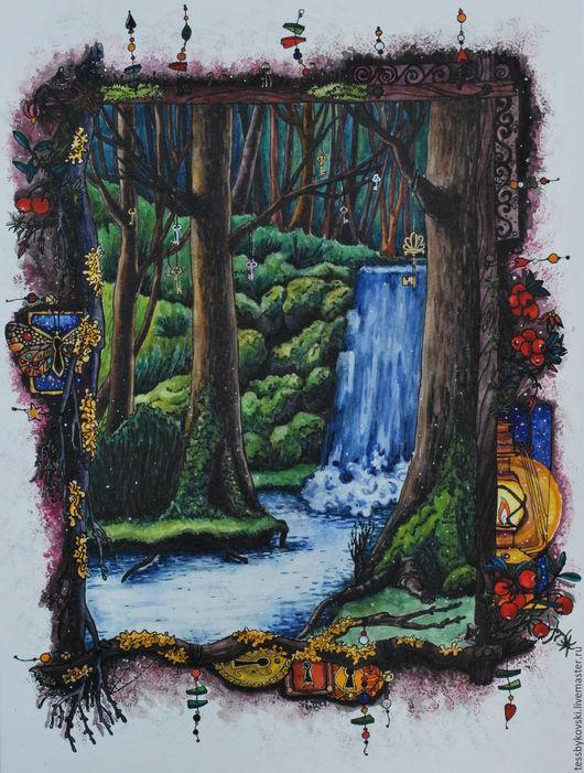 серия `The Secret Forest`  2/9 `Ключи миров у водопада добра` Тася Быкова