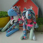 Куклы и игрушки ручной работы. Ярмарка Мастеров - ручная работа лоскутные лошадки. Handmade.