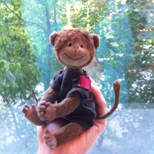 Мишки Тедди ручной работы. Ярмарка Мастеров - ручная работа. Купить Тедди обезьянка Мама. Handmade. Тедди, авторская игрушка