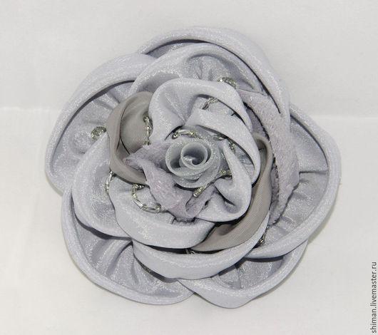 """Броши ручной работы. Ярмарка Мастеров - ручная работа. Купить Цветы из ткани """"Роза шитая"""". Handmade. Роза из ткани"""