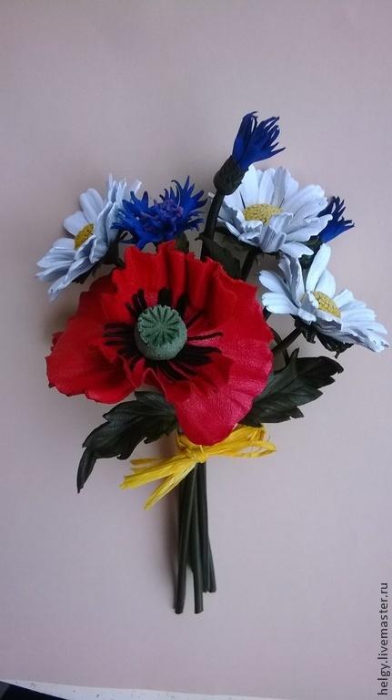 """Броши ручной работы. Ярмарка Мастеров - ручная работа. Купить Брошь """"Полевые цветы"""". Handmade. Букет цветов, луг, ромашка"""