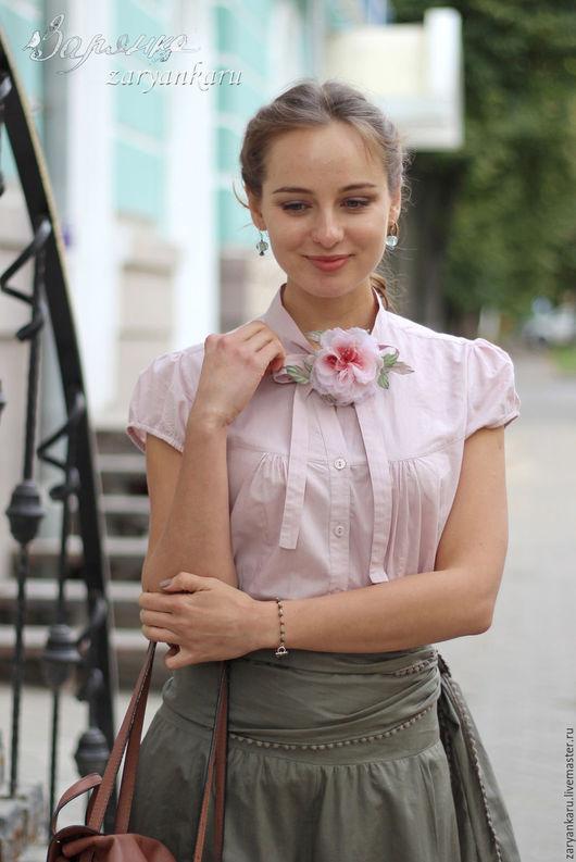 Блузки ручной работы. Ярмарка Мастеров - ручная работа. Купить Блузка Обаяние. Handmade. Блузка, блузка из хлопка, блузка красивая