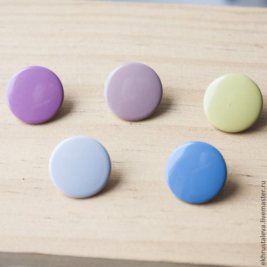 Шитье ручной работы. Ярмарка Мастеров - ручная работа. Купить Цветная пробивная кнопка, 12 мм, 5 цветов. Handmade.