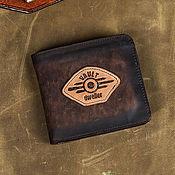 Субкультуры handmade. Livemaster - original item Vault Dweller post apocalyptic man leather wallet. Handmade.