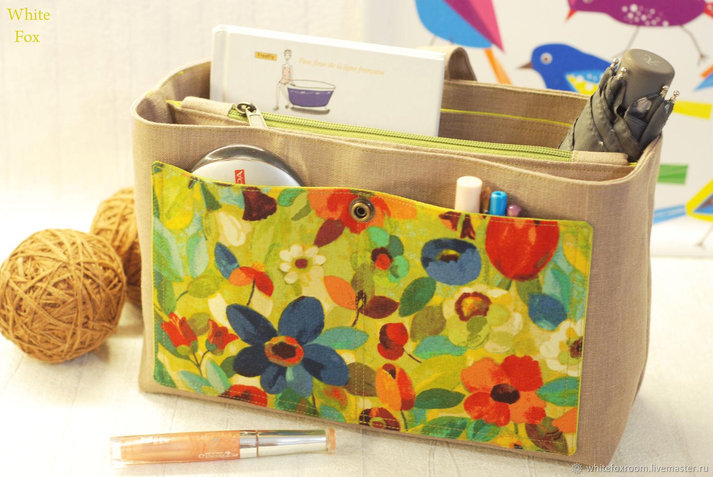 Purse organizer, Hand Bag organizer, Insert Bag, Bag in Bag, Travel Or, Organizer, St. Petersburg,  Фото №1