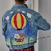 Одежда ручной работы. Ярмарка Мастеров - ручная работа Джинсовые куртки роспись. Handmade.