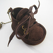 Сумки и аксессуары handmade. Livemaster - original item The decoration of leather.Keychain pendant CUTE BOOTIES .Natural suede. Handmade.