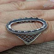 Материалы для творчества handmade. Livemaster - original item Base for the Bushra ring (15 x 30) 925 sterling silver. Handmade.