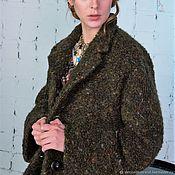handmade. Livemaster - original item Winter boucle coat,khaki. Handmade.