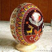 Подарки к праздникам ручной работы. Ярмарка Мастеров - ручная работа Писанка на страусином яйце. Handmade.