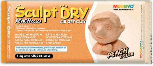 Другие виды рукоделия ручной работы. Ярмарка Мастеров - ручная работа. Купить Глина для моделирования персиковая Sculpt Dry Mungyo. Handmade.