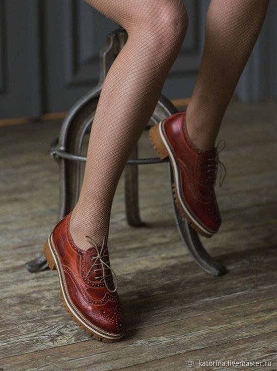 Обувь ручной работы. Ярмарка Мастеров - ручная работа. Купить Туфли из  натуральной кожи женские ... 05185fc0097
