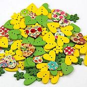 Материалы для творчества handmade. Livemaster - original item A set of buttons hearts 10 pieces