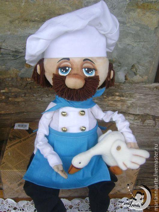 Кухня ручной работы. Ярмарка Мастеров - ручная работа. Купить Повар Фабрицио. Handmade. Разноцветный, на кухню, кукла ручной работы