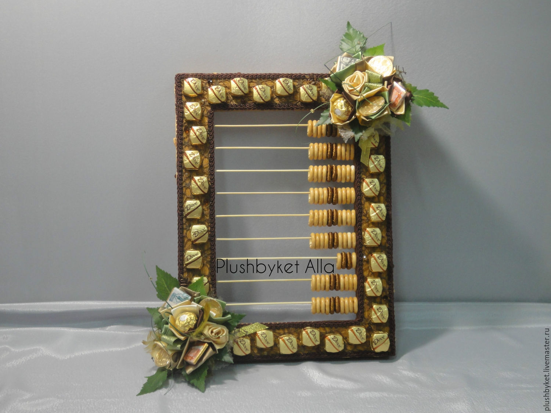 Счеты бухгалтерские из конфет с пожеланиями, Кулинарные сувениры, Москва,  Фото №1