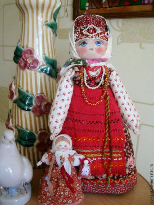 """Народные куклы ручной работы. Ярмарка Мастеров - ручная работа. Купить Кукла """"Мамушка""""2. Handmade. Ярко-красный, материнская любовь"""