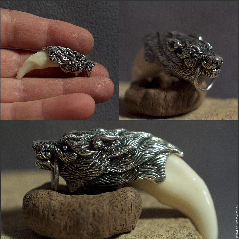Pendants handmade. Livemaster - handmade. Buy Wolf fang pendant.Silver, pendant, wolf, animal, wild, tooth, fang