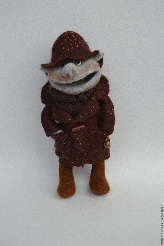 Коллекционные куклы ручной работы. Ярмарка Мастеров - ручная работа. Купить Шишок. Handmade. Коричневый, для дома и интерьера, проволочный каркас