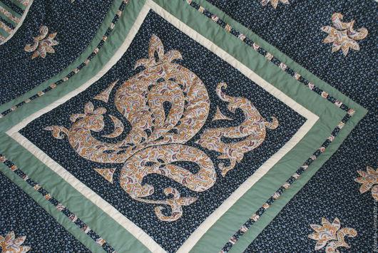Текстиль, ковры ручной работы. Ярмарка Мастеров - ручная работа. Купить Покрывало Одеяло лоскутное Ночь в саду. Handmade.