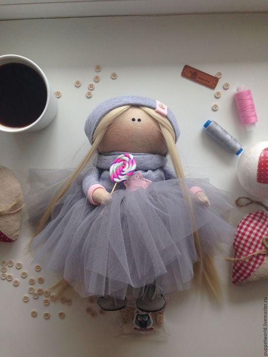 Коллекционные куклы ручной работы. Ярмарка Мастеров - ручная работа. Купить Интерьерная кукла Сус. Handmade. Серый, коллекционная кукла