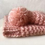 handmade. Livemaster - original item Hat and snood set for girls knitted. Handmade.