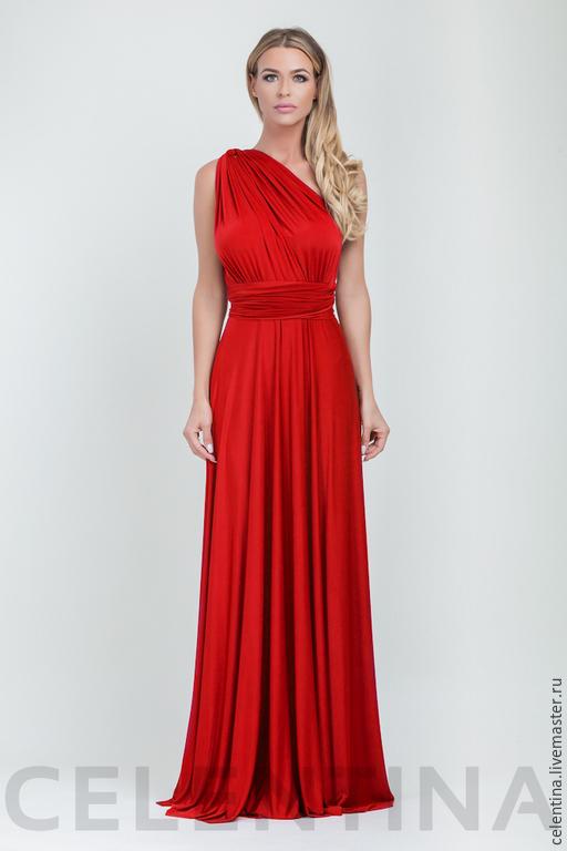 Платье трансформер, красное платье в пол, платье вечернее, длинное платье, однотонное платье, платье подружки невесты, платье инфинити, платье масло, платье для особого случая, 15 расцветок доступно.