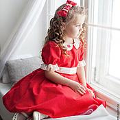 """Работы для детей, ручной работы. Ярмарка Мастеров - ручная работа Платье для девочки """"Николь"""" рост 116-119. Handmade."""