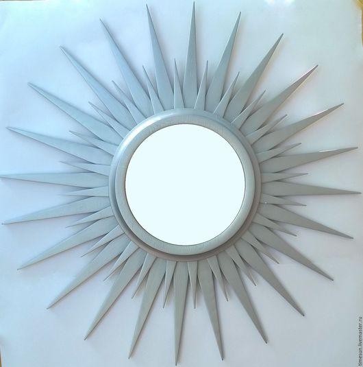 """Зеркала ручной работы. Ярмарка Мастеров - ручная работа. Купить Зеркало """"Звезда Солнце"""" Серебро. Handmade. Серебряный, зеркало"""
