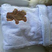 Одежда ручной работы. Ярмарка Мастеров - ручная работа Детские махровые халаты с вышивкой. Handmade.