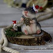 Куклы и игрушки ручной работы. Ярмарка Мастеров - ручная работа Мышонок Морячок. Handmade.