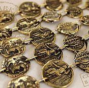 Украшения ручной работы. Ярмарка Мастеров - ручная работа Браслет с монетами из бронзы авторский бронзовый браслет купить. Handmade.